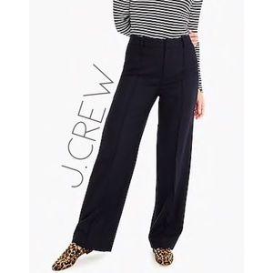 J.Crew wool cashmere high rise wide leg pants 12 T